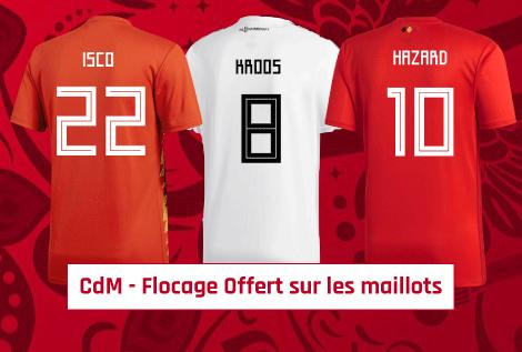 Flocage Coupe du Monde Offert