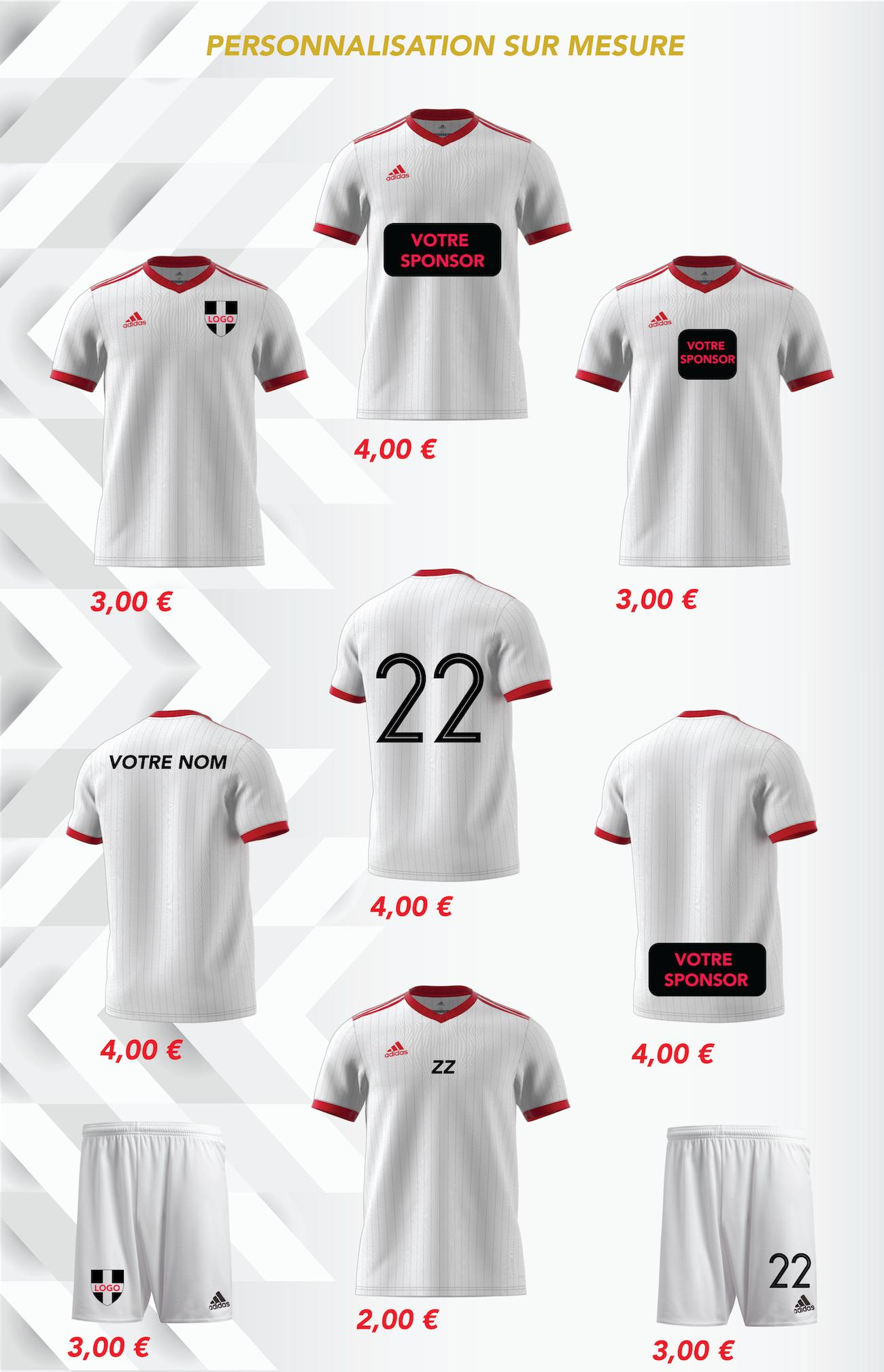Personnalisation et flocage Tarif Futsal-Store
